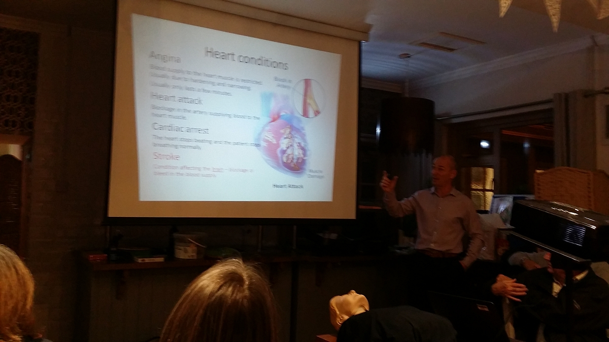 Kennet Valley TR Group learn about Defibrillators & CPR November Club Night