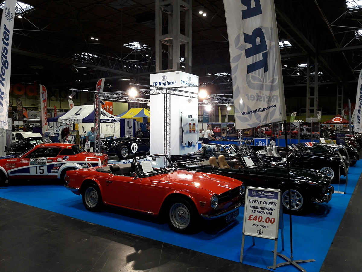 Leicestershire TR Group represented at the Classic Car Show