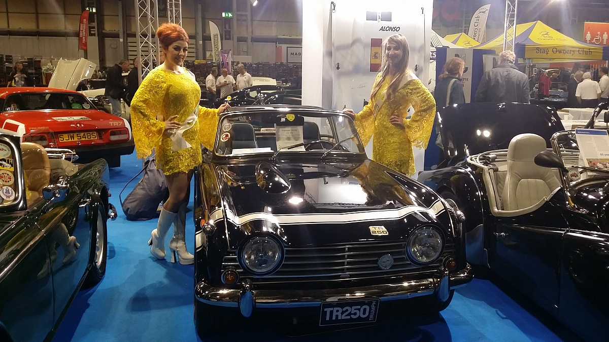 Kennet Valley TR Group Car on exhibit at Lancaster Classic Car Show NEC