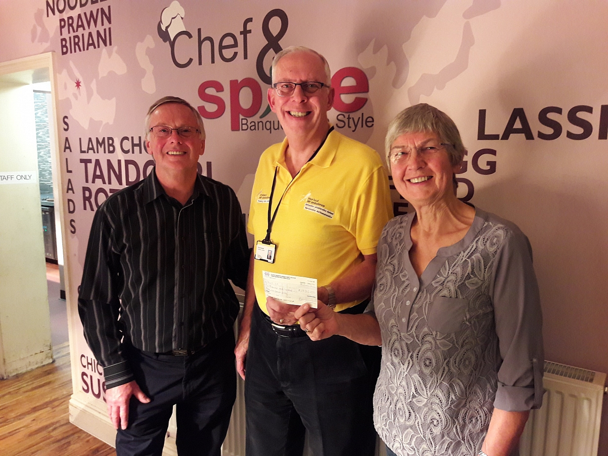 Leicestershire TR Group help raise £1780 for the local Air Ambulance