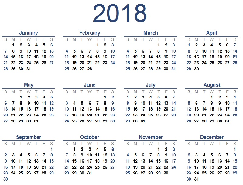 Kennet Valley TR Group - First Issue of the  Events Calendar for 2018
