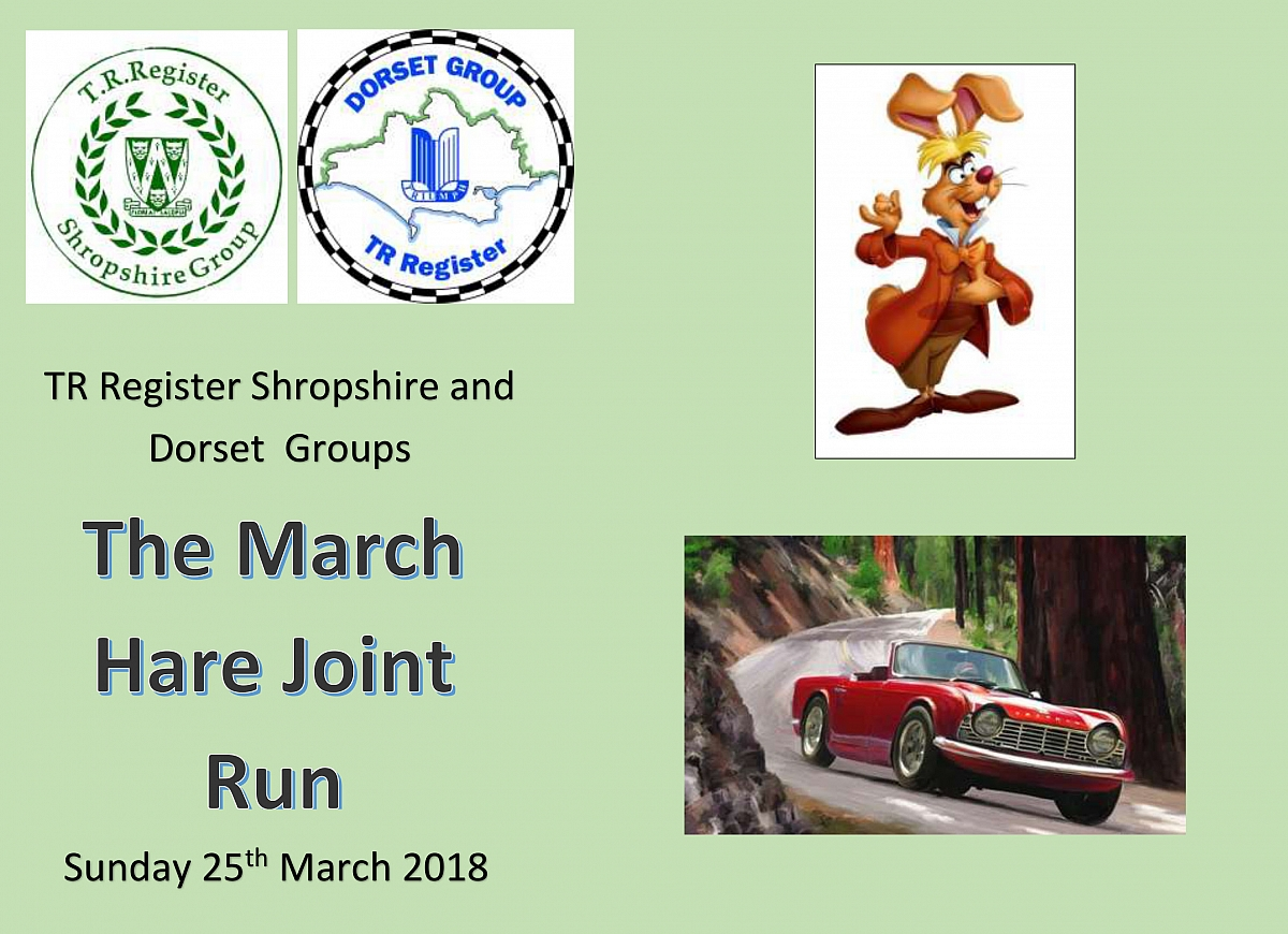 AMENDED - TR Register Shropshire and Dorset Groups Joint March Hare Run - AMENDED