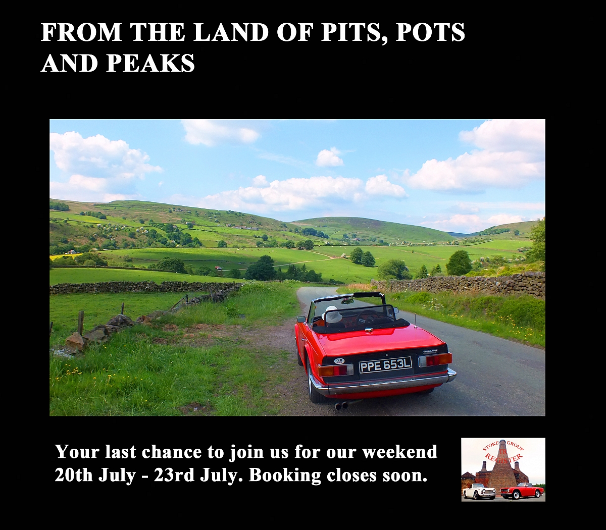 Stoke Group Pits, Pots and Peak Weekend. Don't miss this one, booking closing soon!