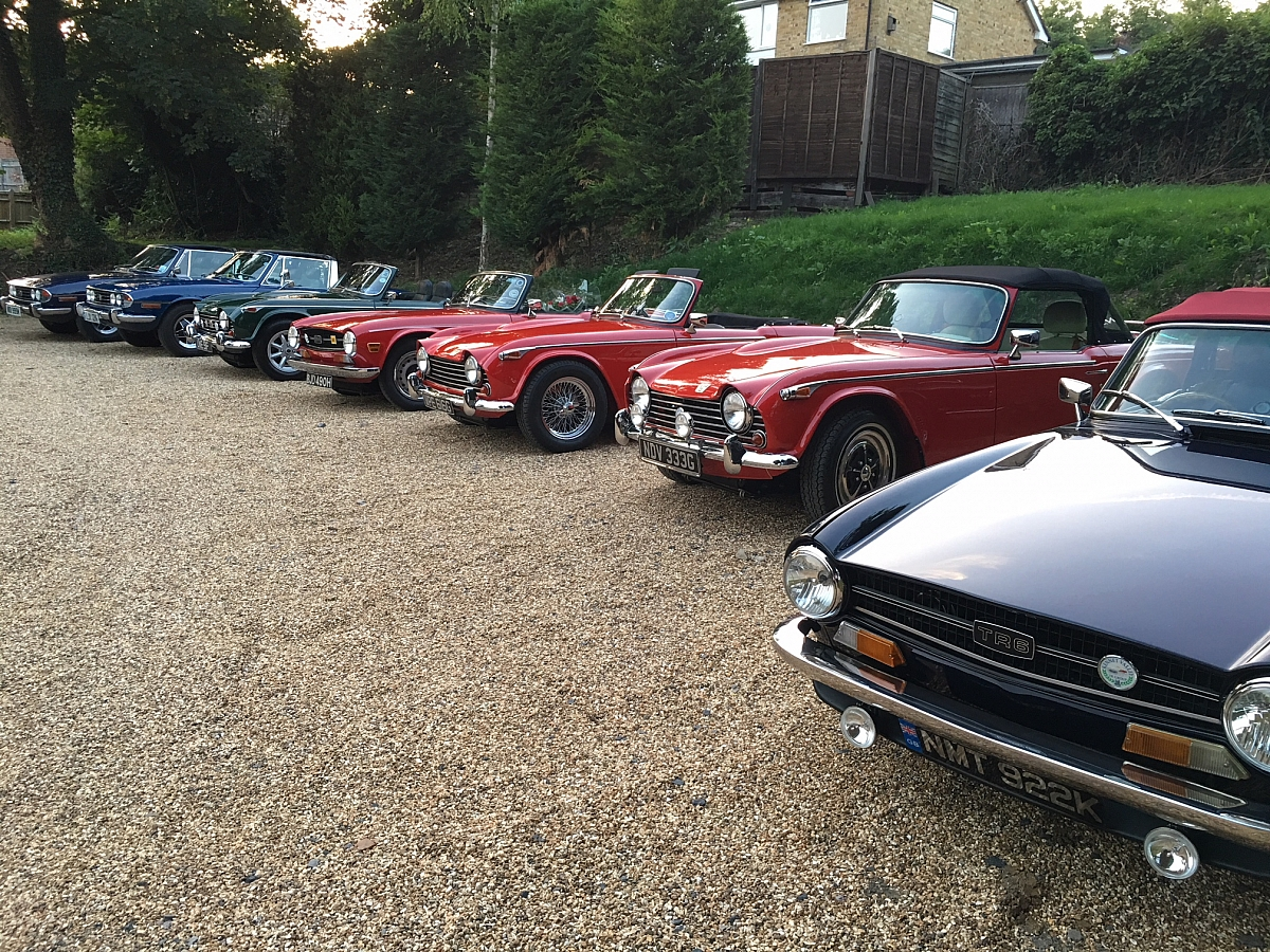 Kennet Valley TR Group June Club Night, an enjoyable sunny evening.