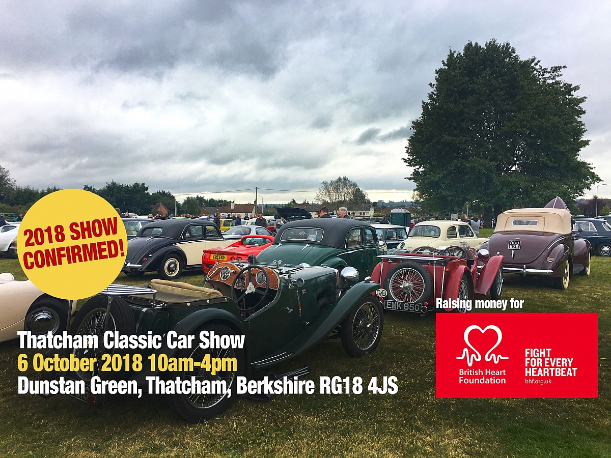 Kennet Valley TR Group are glad to see Thatcham Classic is on the calendar again.