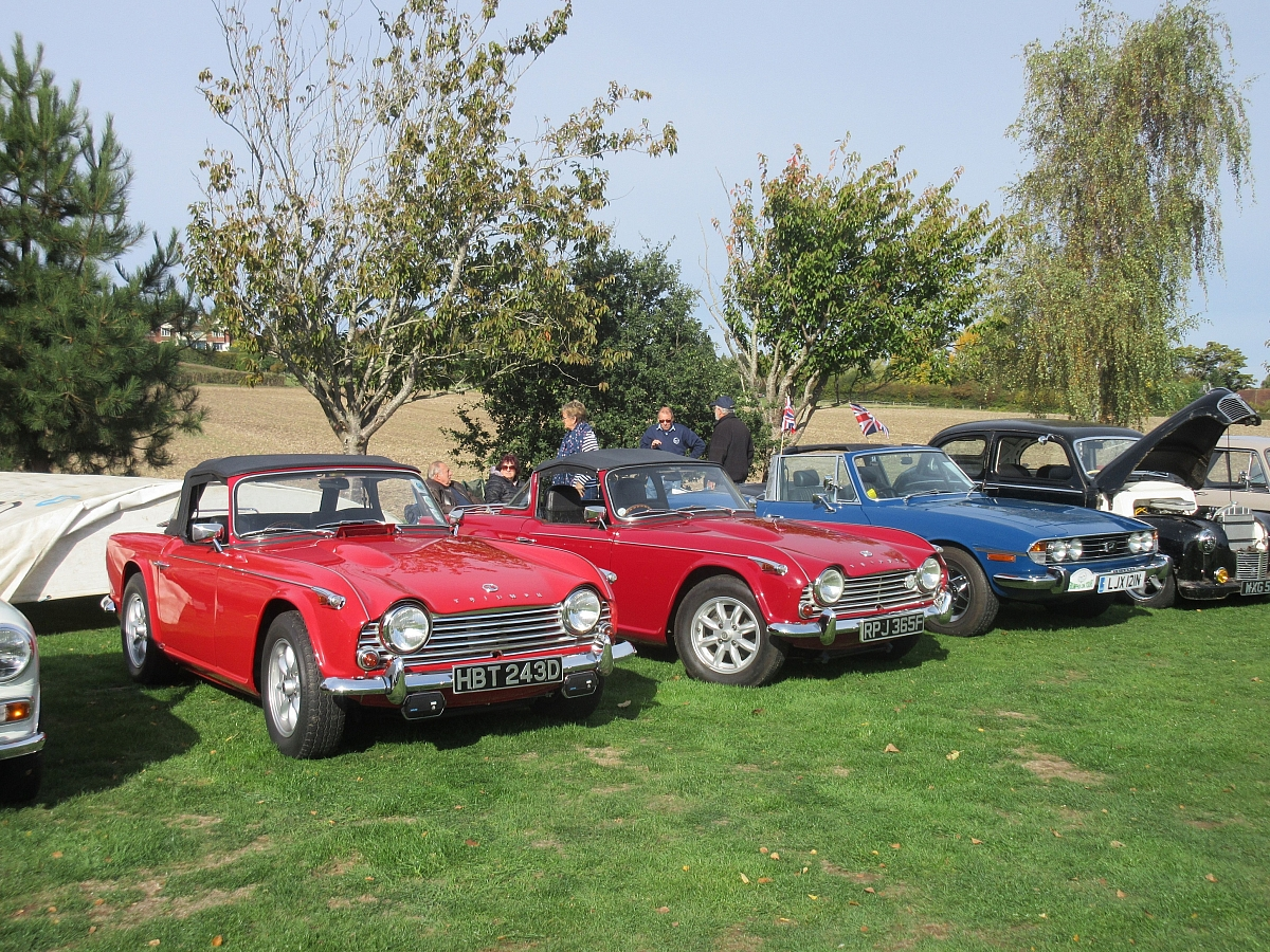 Kennet Valley TR Group enjoy a great day out at Wheels Vintage Vehicles, Cookham Dean
