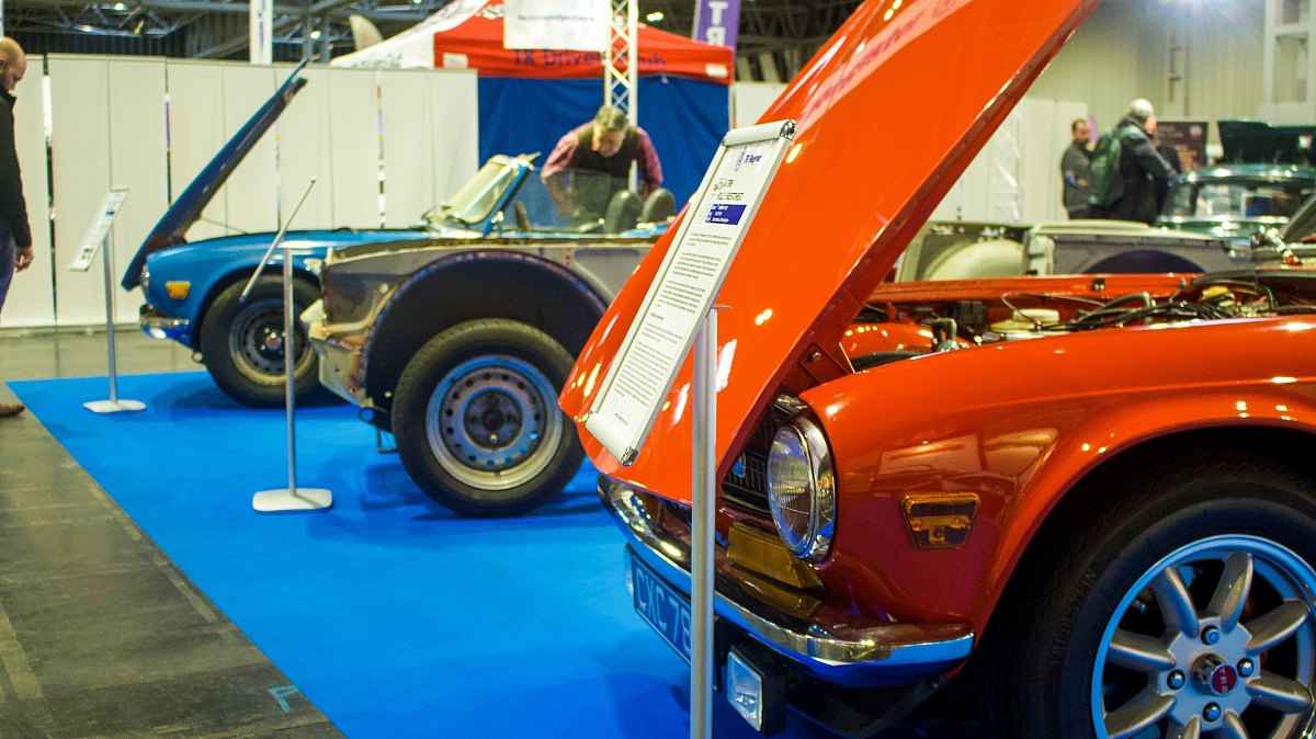 TR Register showcases TR6 story at Practical Classics Show