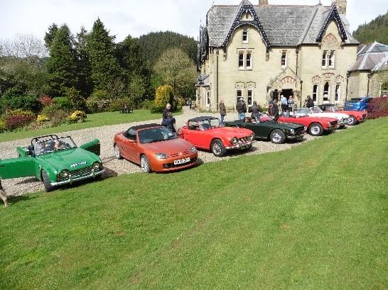 Drive it Day to Abbey Cwm Hir House