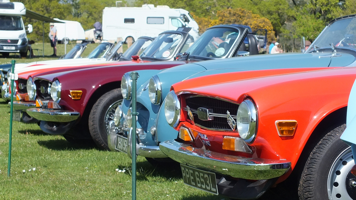 Stoke TR Group at National TR6 Day at Wroxall Abbey.