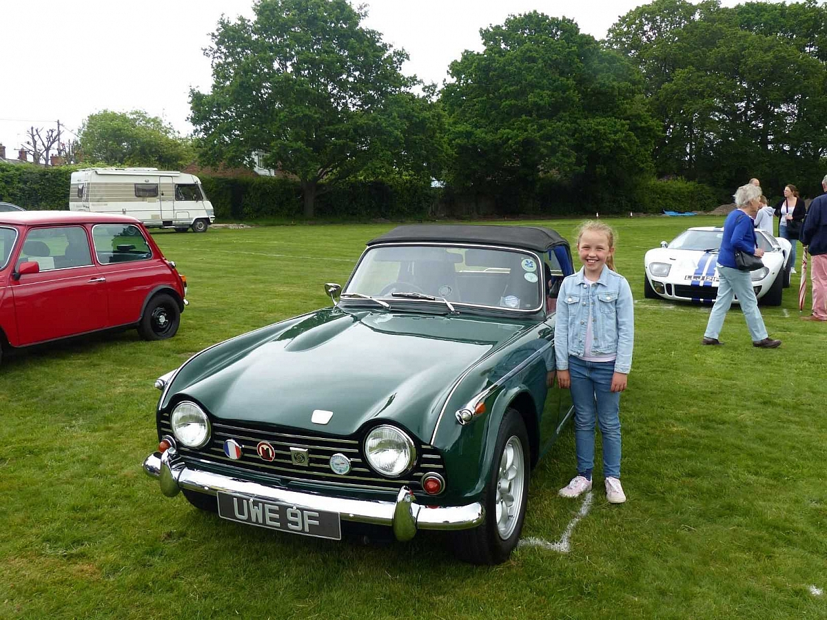 Kennet Valley TR Group Members enjoy Burghclere Family Fun Day & Classic Show