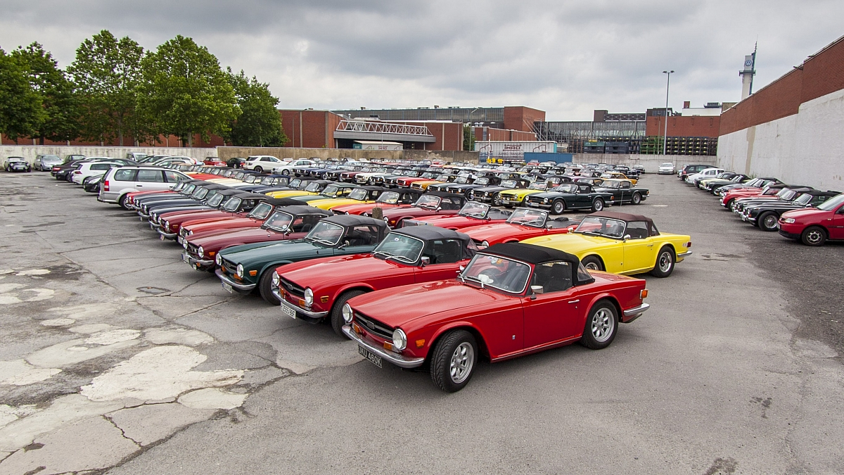 TR6s gather to celebrate 50 years at the home of Karmann