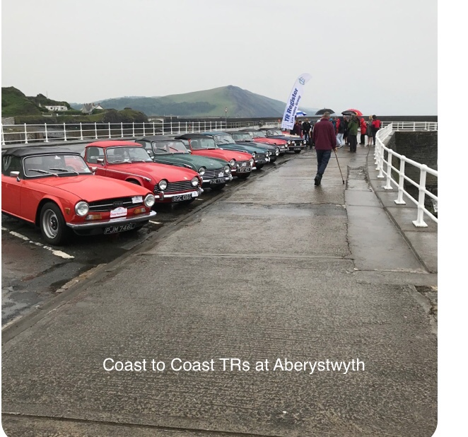 The Coast to Coast Drive from Southwold to Aberystwyth 2019.