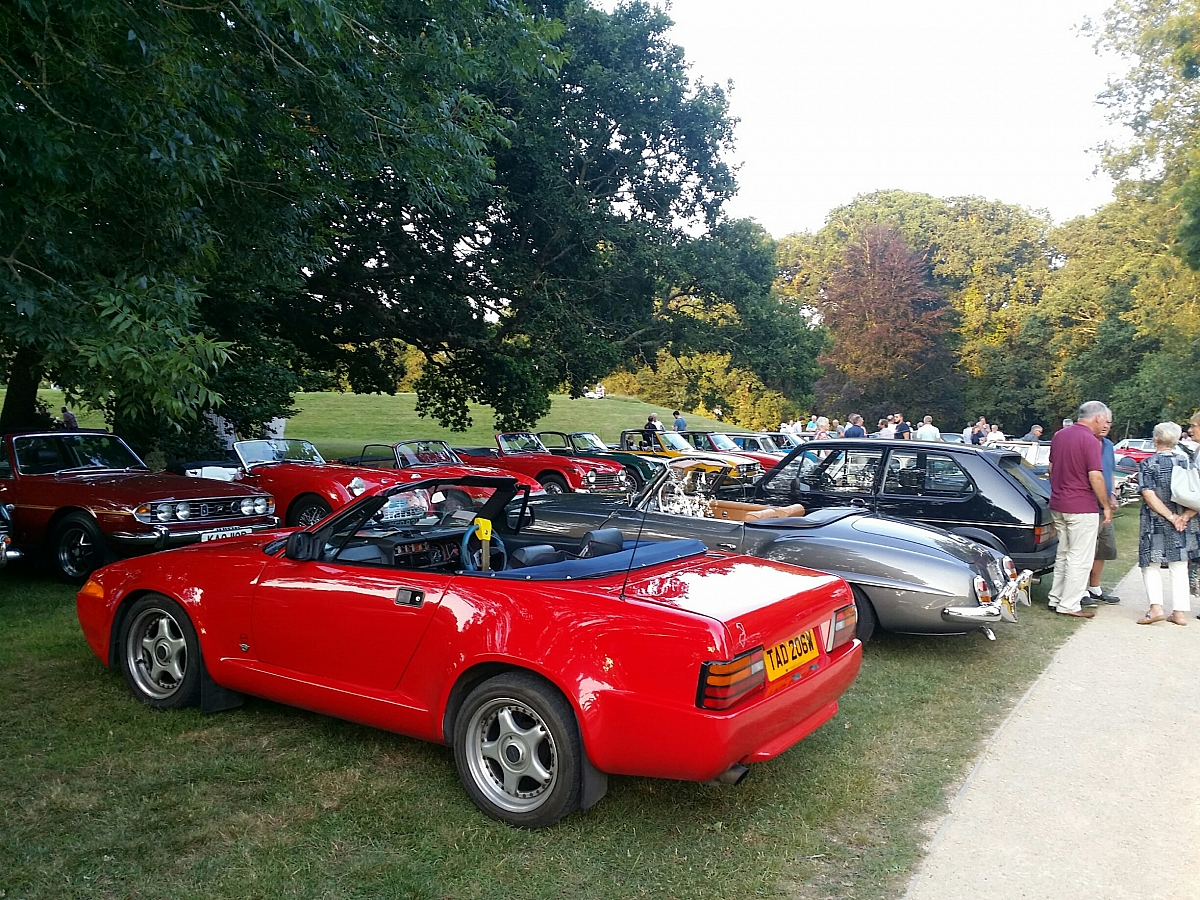 Kennet Valley TR Group joins Wessex TR's at IBM Invited Car night