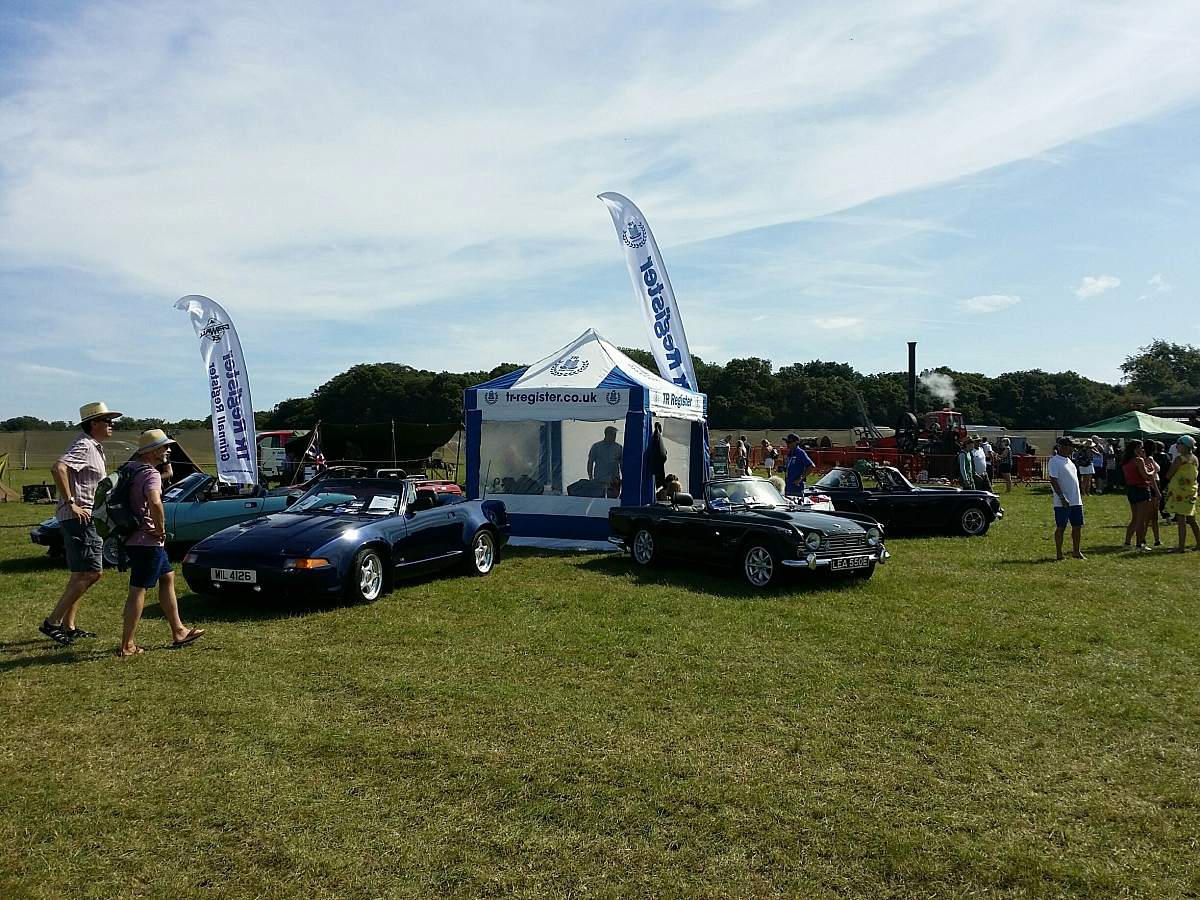 Kennet Valley TR Group put on a classic TR display at C4RFest South