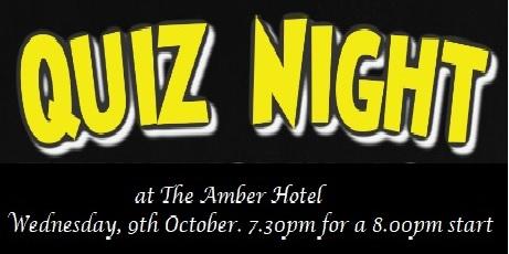 Derbyshire Dales Quiz Night, Wednesday, 9th October