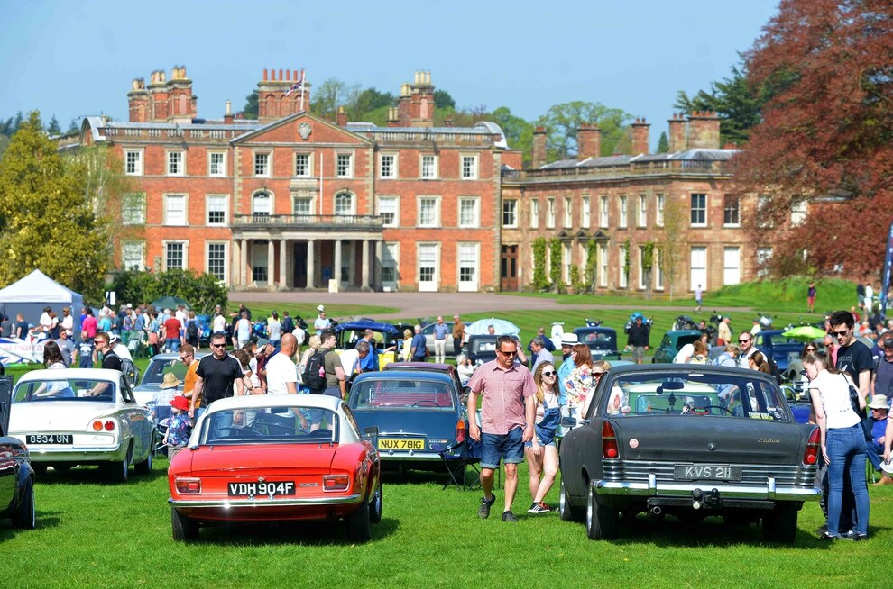 Shropshire Group - Attingham Park Classic Vehicle Rally in Aid of Severn Hospices with TR Register Club Social Run