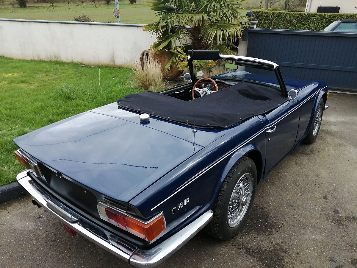 TR6PI CP 1969 First start after purchase - stood 5 years in a garden.