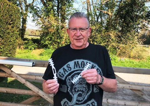 Kennet Valley TR Group Member supports the NHS with his 3D Printer