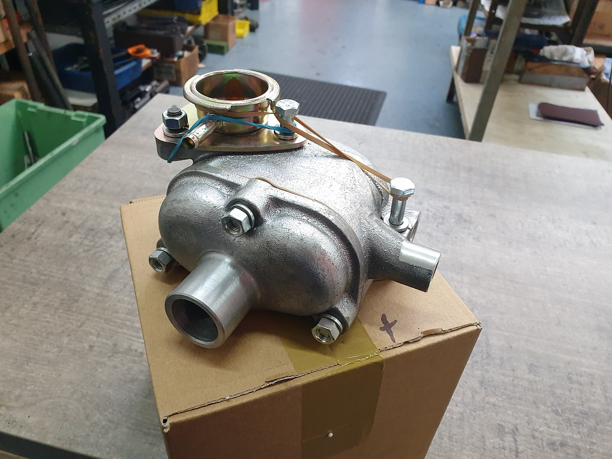 Pete Cox Sportscars supplying early TR2 Thermostat Housings