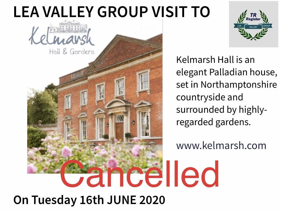 Lea Valley Group - Visit to Kelmarsh Hall & Gardens, Northampton NN6 9LX CANCELLED