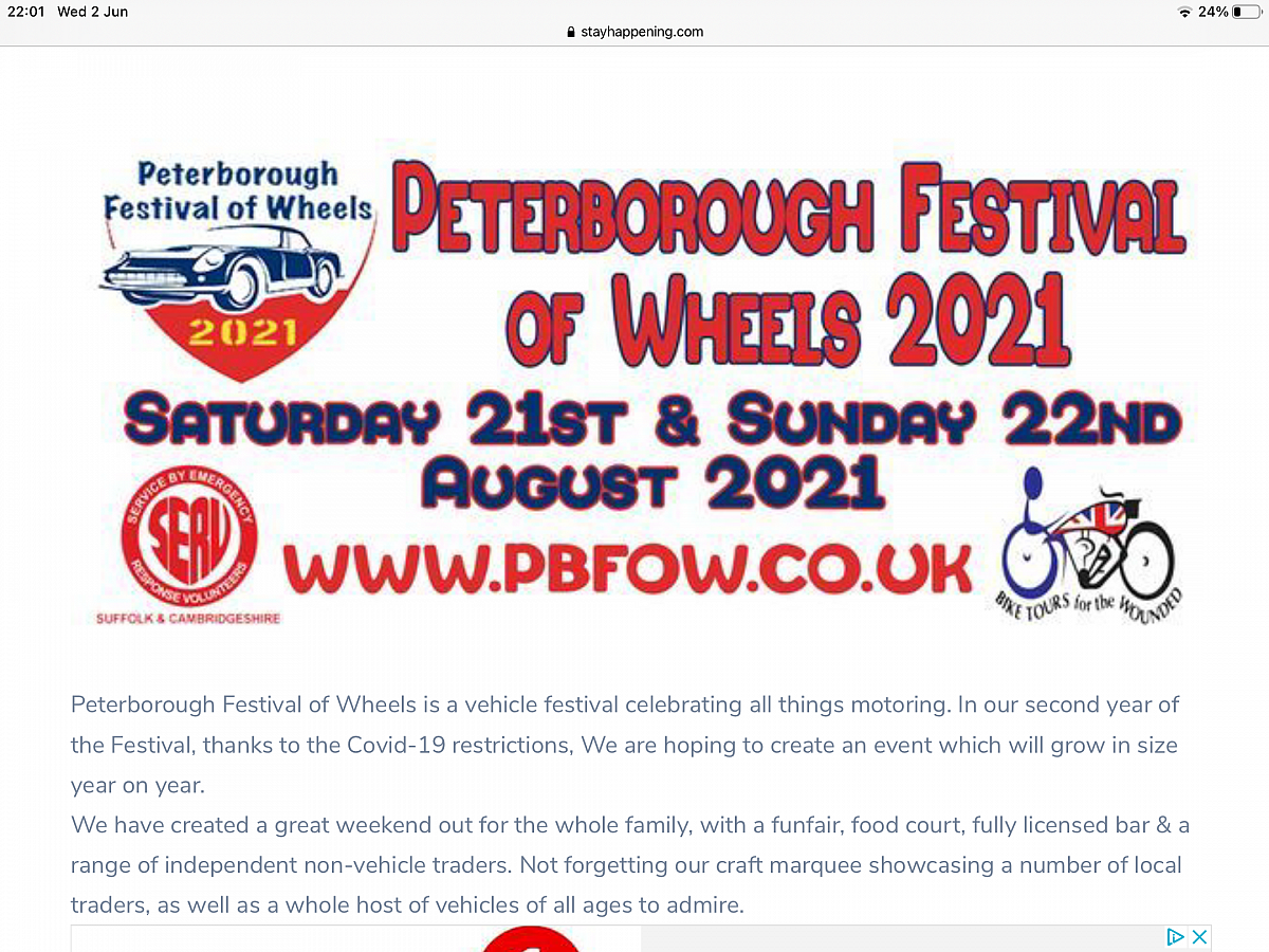 Camb Followers will be at the Festival of Wheels, Peterborough