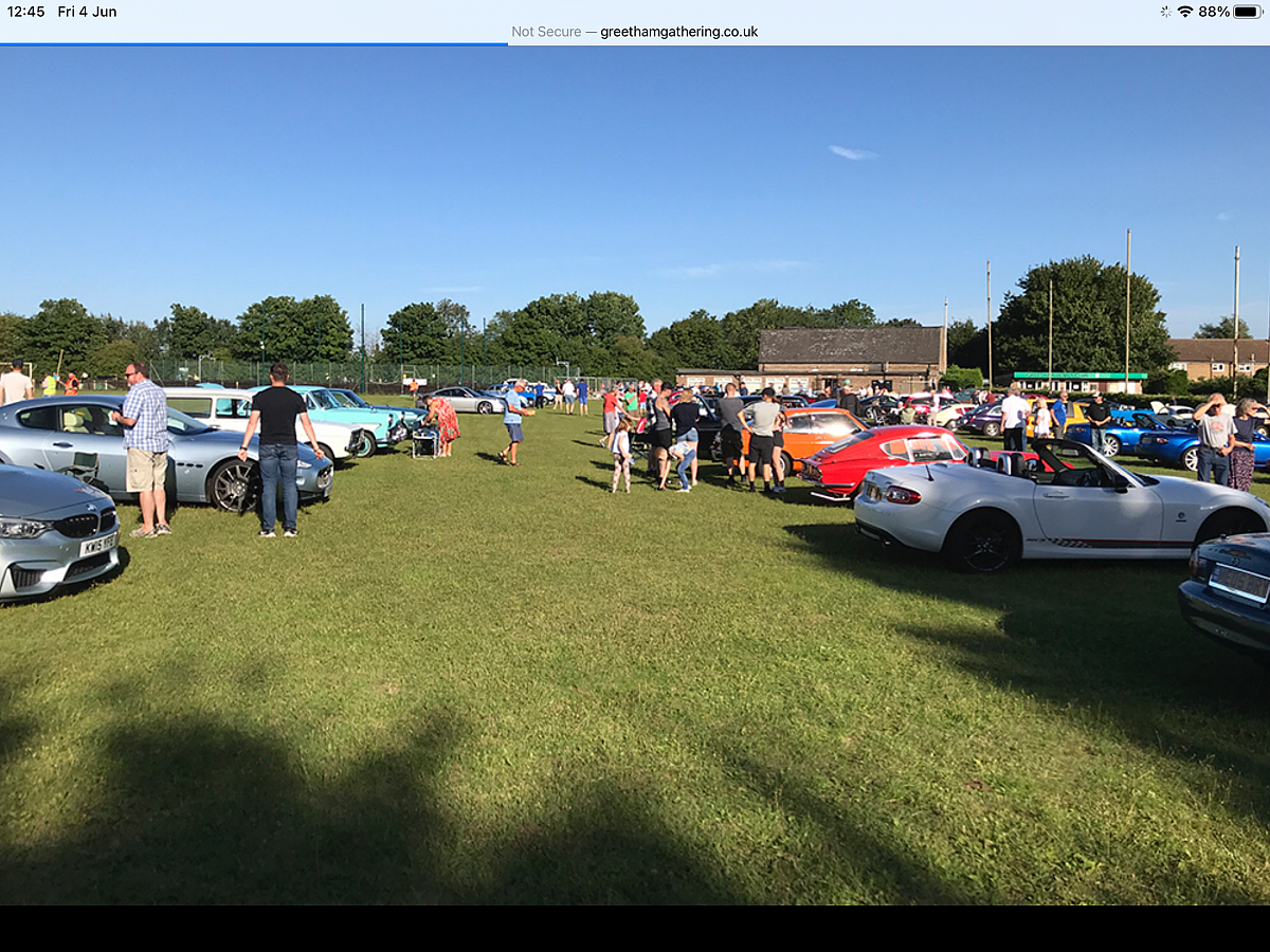 Camb Followers are at the Greetham Classic Car Meet