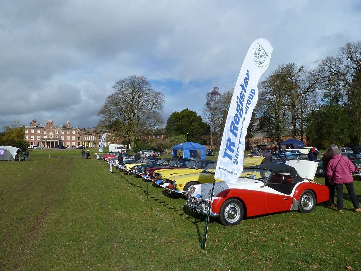 Shropshire and Stoke Groups Attending The Weston Park Motor Show