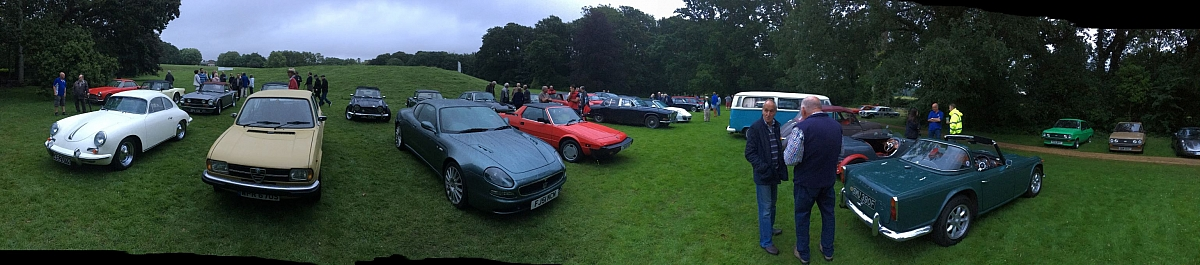 Kennet Valley Group joins Wessex TR's at IBM Invited Car night
