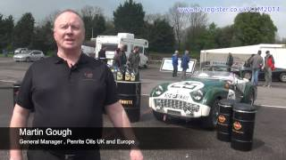 Triumph TRs at Le Mans Classic 2014 | Sponsored by Penrite Oils.