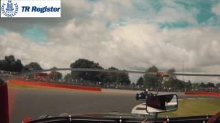 Triumph TR3S on board at Silverstone Classic 2017