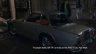 Triumph Italia arrives at the RAC Club for a week in the 'rotunda'    HD 1080p
