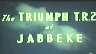 Period promotional film of the Jabbeke speed test with Triumph TR2 MVC575.